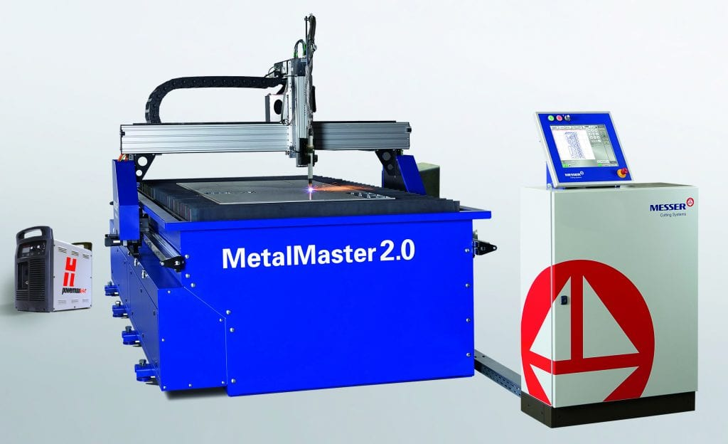 "high definition plasma cutting machine called the ""Metal Master 2.0"""